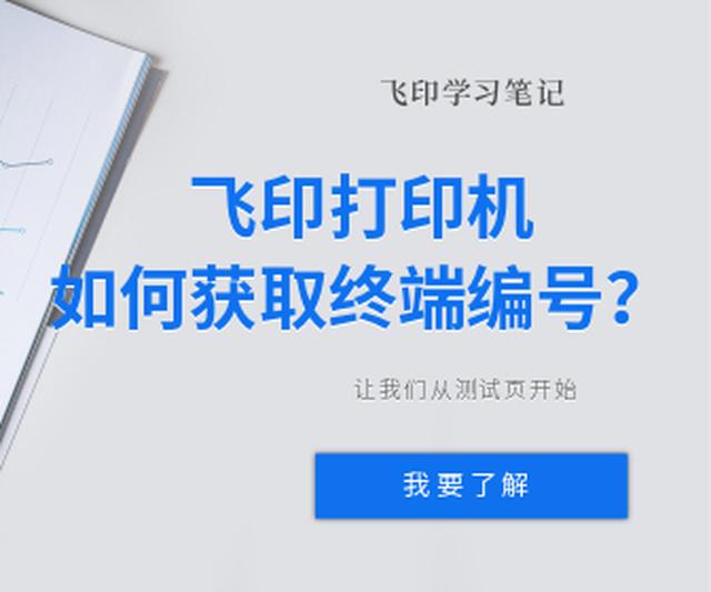 终端编号是飞印的打印机连接服务器的唯一序号,一般是一个十六位的数字,可以通过打印测试页的方式看到。