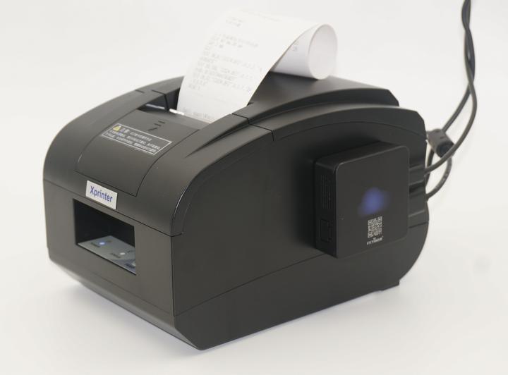 这款属于大齿轮带切刀打印机,外形比较敦厚,好处是带有切刀,网上价格是238,券后233包邮,切刀适合打印量较大的场合,如果您的打印量每分钟超过有一单的话我们就建议选择带切刀型号,能节约时间、精力,工作一天积累下来还是比较可观的。